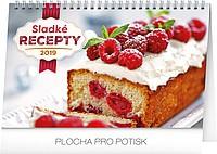 Sladké recepty 2019, stolní kalendář