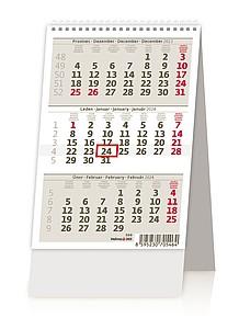 Mini tříměsíční kalendář 2020, stolní kalendář