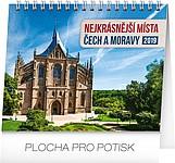 Nejkrásnější místa Čech a Moravy 2019, stolní kalendář