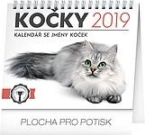Kočky se jmény koček 2019, stolní kalendář