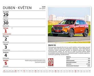 MiniMax Auta 2021, stolní kalendář
