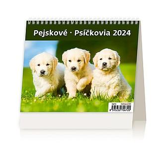 Minimax Pejskové 2020, stolní kalendář