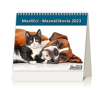 Minimax Mazlíčci 2020, stolní kalendář