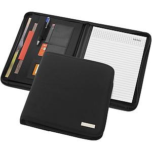 Konferenční desky na zip, formát A4 se zápisníkem, černá