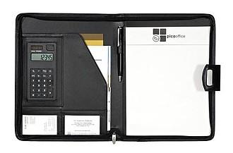 Konferenční desky A4 s blokem a kalkulačkou