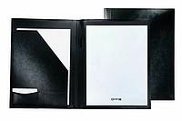Koženkové desky A4 s linkovaným blokem (20 stran), černá
