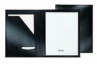 Černé koženkové desky A4 s blokem (20 stran)