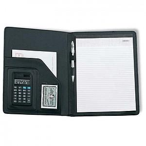 Konferenční desky s kalkulačkou, černá
