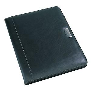 Desky na dokumenty A4 s notesem, černá