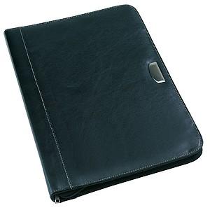 Desky na dokumenty A4 s kalkulačkou a notesem, černá
