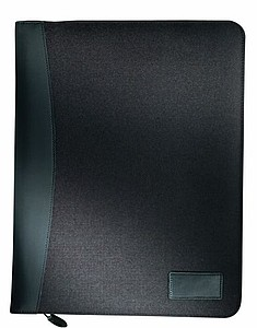 Černé luxusní desky A4 s 4 kroužkovým vazačem a blokem