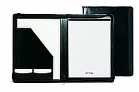 Kožená aktovka A4, luxusní,zapínání na zip, černá