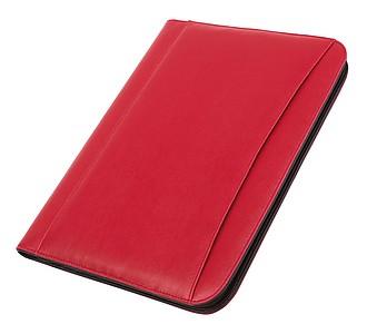 Konferenční desky A4 s kalkulačkou, červené