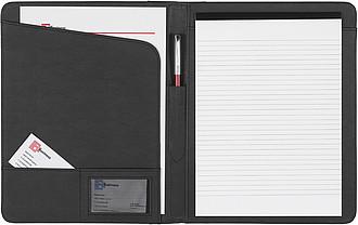 AMBASADOR konferenční desky A4 sblokem, černá
