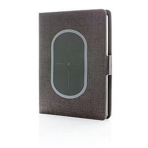 Obal na zápisník s bezkontaktní nabíječkou, černá