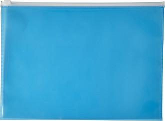 Transparentní PVC sloha na dokumenty A4, modrá