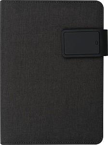 OREA Konferenční sloha A5 se zápisníkem a powerbankou o kapacitě 4000mAh, modrá