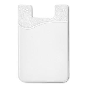 Silikonový držák na karty, bílý