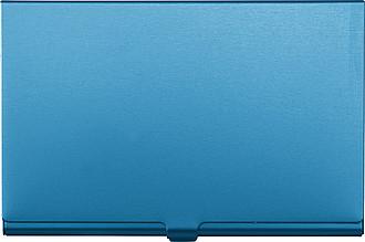 ALBAN Kovové pouzdro na vizitky, modré