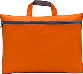 OXIDO Taška na dokumenty na zip, 300d polyester, oranžová