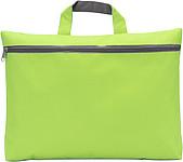 OXIDO Taška na dokumenty na zip,300d polyester,světle zelená