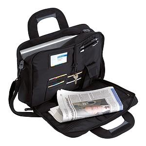 Cestovní taška na dokumenty a laptop, černá