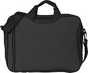 ASORTA Taška na dokumenty s přední kapsou na zip, černá
