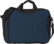 ASORTA Taška na dokumenty s přední kapsou na zip, modrá