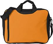 ASORTA Taška na dokumenty s přední kapsou na zip, oranžová