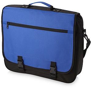 Konferenční taška na rameno, tmavě modrá, černá