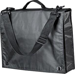 Nylonová taška na dokumenty, na rameno, černá