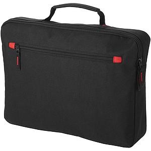 Konferenční taška, černá, červené doplňky