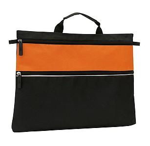 Taška na dokumenty, černo oranžová