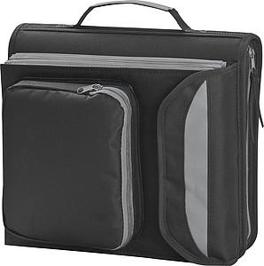 Dvojitá taška na dokumentky, černo šedá