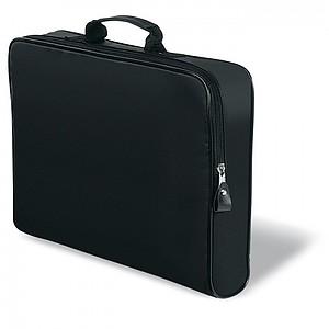 REPORT Dvoubarevná nylonová aktovka, černá
