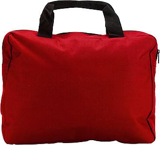 NASO Módní aktovka na dokumenty, červená