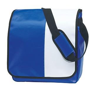 Taška přes rameno, modrá bílá