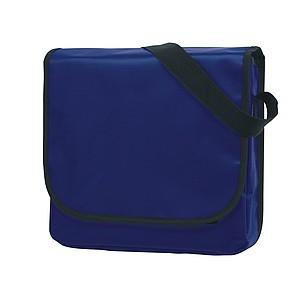 Taška přes rameno z odolného materiálu, modrá