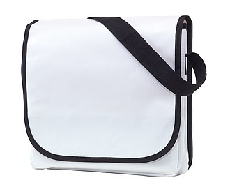 Taška přes rameno z odolného materiálu, bílá