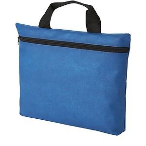 Netkaná taška na dokumenty se zipem, světle královská modrá