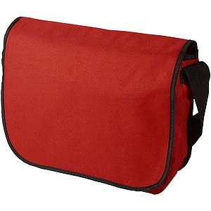 Taška z 600d polyesteru, s popruhem přes rameno, červená