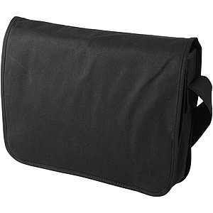 Taška přes rameno z netkané textilie, černá