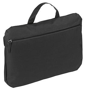 Decentní taška na dokumenty, černá