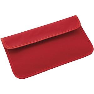 Pouzdro na telefon s blokádou RFID, červená