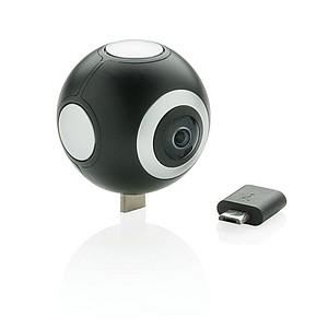 360° kamera se dvěma objektivy, černá