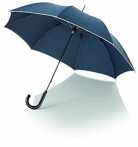 BOUDIN Značkový deštník Balmain s lemem, námořní modrá