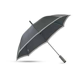 CARDIFF Automatický deštník v obalu, černá