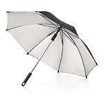 Holový manuální deštník z pongee polyesteru, černá