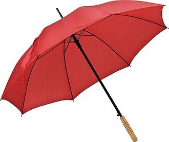 Deštník, automatické otvírání, červená