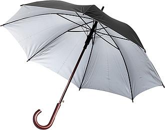 ANATOL Automatický deštník v obalu, černý, rozměry 90 x 124 cm